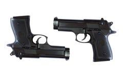 Pistola isolata su priorità bassa bianca Fotografia Stock Libera da Diritti