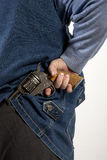 Pistola nascondentesi Immagini Stock Libere da Diritti