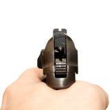 Pistola nella mano Fotografia Stock