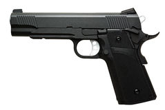 Pistola nera Fotografie Stock Libere da Diritti