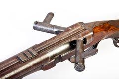Pistola parallelamente di caccia Double-barrelled immagini stock