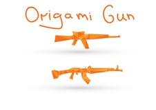 Pistola piana di origami Fotografie Stock