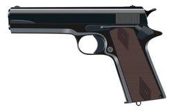 Pistola potente, arma, arma de mano, ejemplo del vector ilustración del vector