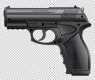 Pistola potente, arma, vector del handgun_ ilustración del vector