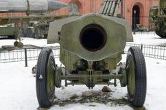 Pistola potente dell'artiglieria Fotografia Stock