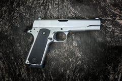Pistola semiautomatica M1911 Fotografie Stock