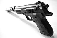 Pistola silenciada imagens de stock