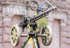 Tempo sovietico del mondo War2 dell'esercito mitragliatrice Fotografie Stock Libere da Diritti