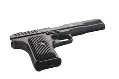 Pistola sovietica isolata su bianco Fotografia Stock Libera da Diritti