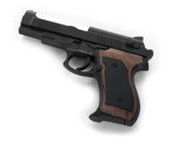 Pistola su priorità bassa bianca Immagini Stock Libere da Diritti