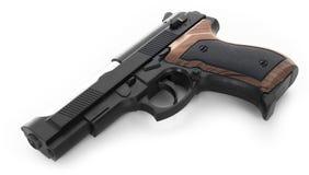 Pistola su priorità bassa bianca Fotografia Stock Libera da Diritti
