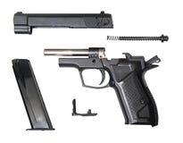 Pistola traumatica smontata di fort-12r Immagine Stock