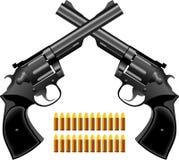 Pistola um revólver Foto de Stock