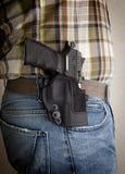 Pistola in una custodia per armi Fotografia Stock Libera da Diritti