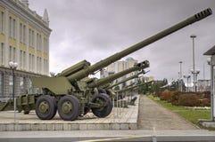 Pistola URSS dell'artiglieria Fotografia Stock Libera da Diritti