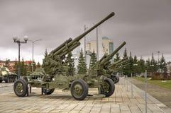 Pistola URSS dell'artiglieria Fotografie Stock