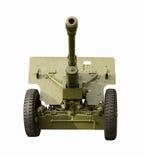 Pistola verde dell'artiglieria di campo Fotografia Stock