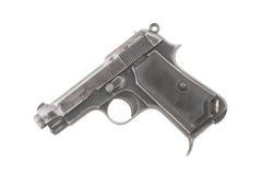 Pistola vieja aislada en el fondo blanco dejado Fotos de archivo libres de regalías
