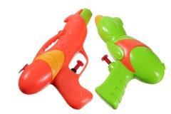 Pistolas de água Imagens de Stock Royalty Free