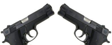 pistolas de 9m m imagen de archivo libre de regalías