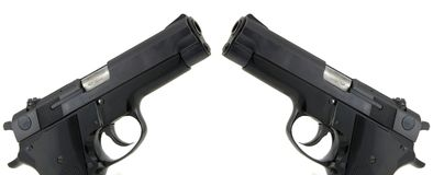 pistolas de 9mm Imagem de Stock Royalty Free