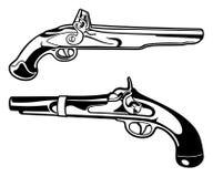 Pistolas do pó preto Fotos de Stock