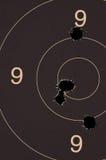 Pistole 25-Meter-Ziel Lizenzfreie Stockfotos