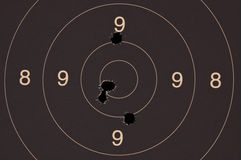 Pistole 25-Meter-Ziel Stockfotos