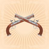 Pistole antiche Immagine Stock Libera da Diritti