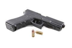 Pistole auf einem weißen Hintergrund Stockfotos