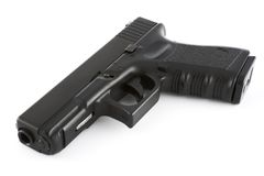 Pistole auf Seite Stockfotos