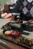 Pistole confiscate Fotografie Stock
