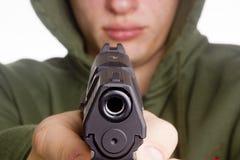 Pistole in der Hand Stockbild