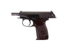 Pistole des Sowjets 9mm Makarow lokalisiert auf weißem Hintergrund Stockfotos