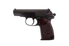 Pistole des Sowjets 9mm Makarow lokalisiert auf weißem Hintergrund Lizenzfreie Stockbilder