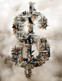 Pistole e simbolo di dollaro Fotografia Stock