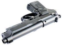 Pistole getrennt auf Weiß Lizenzfreie Stockbilder