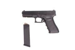 Pistole getrennt auf weißem Hintergrund Stockfoto