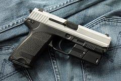 Pistole, halbautomatisch Stockfoto