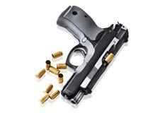 Pistole real 9mm da arma da mão Fotos de Stock Royalty Free
