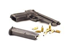 Pistole- u. Gewehrkugelisolat. Stockbilder