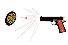 Pistole und Ziel stockfotografie