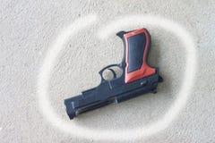 Pistole utilizzate per la causa immagine stock libera da diritti