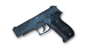 Pistole, Waffe lokalisiert auf Weiß Stockfoto