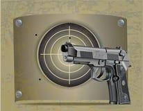 Pistolecika Beretta elita z celem ilustracji