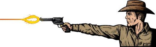 Pistolenheld Lizenzfreie Stockbilder