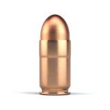 Pistolenkugel auf Weiß Stockfotos