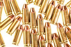Pistolenkugeln lokalisiert auf Weiß Stockbild