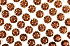 Pistolenmunition von der Spitze Stockfoto
