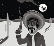 Pistolero mexicano Fotos de archivo
